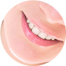 Close up on a smiling mouth